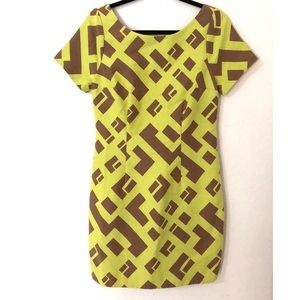 Plenty by Tracy Reese Size 6 Yellow & Tan Dress